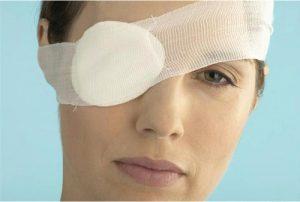 асептическая повязка на глаз