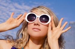 нахождение в очках при ожоге глаз