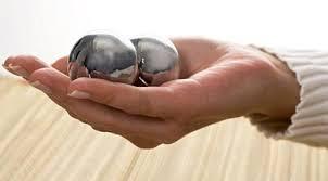 перекатывание шаров в кисти