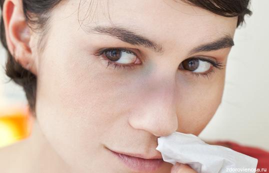 признак ушиба носа